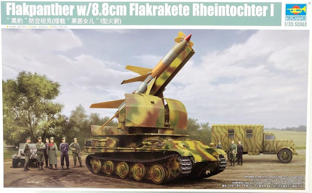 Trumpeter 1/35 Flakpanther w/8.8cm Flakrakete Rheintochter I – The Model Room